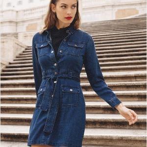 RAILS Ripley Dark Vintage Denim Mini Dress Small